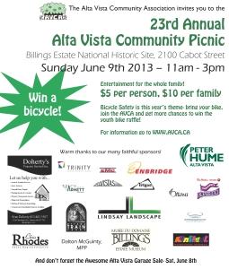 23rd Annual Alta Vista Community Picnic
