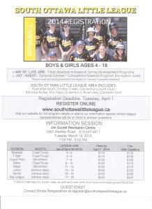 South Ottawa Little League Poster 2014