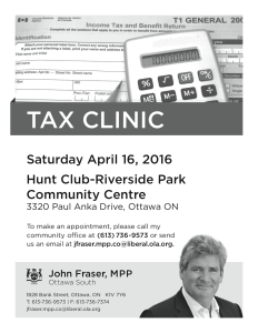 Fraser Tax Clinic flyer 2016